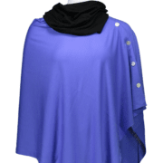 Button Wrap - Wisteria with black Snood