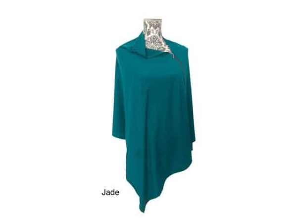 merino wool zip wrap jade