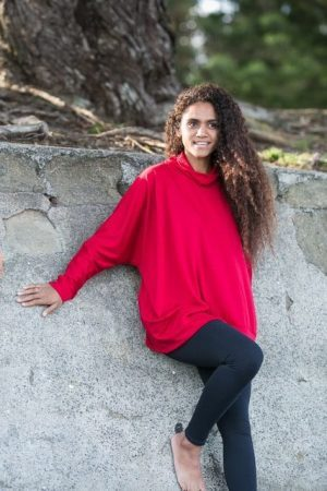 Merino Batwing Top with bottom band