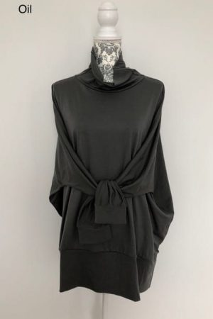 merino wool batwing top
