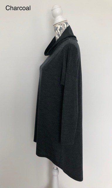 merino wool pleat back top