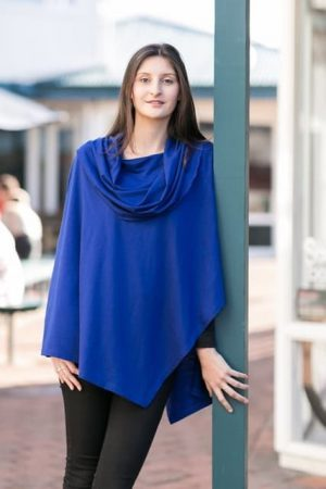 Big Collar Asymmetric Cape