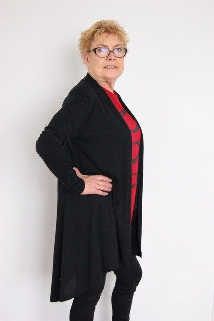 Buy black long length merino wool coat jacket