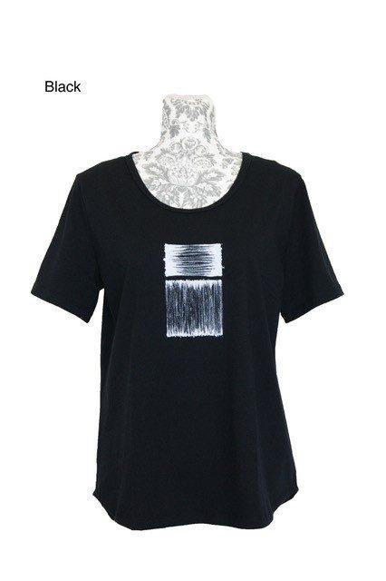 buy curved hem classic cotton tee black