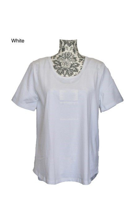 buy curved hem classic cotton tee white