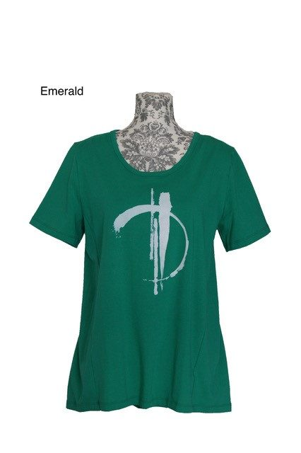 buy womens cotton pleat back cotton tee emerald