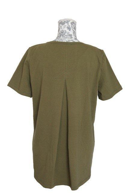 buy womens cotton pleat back cotton tee khaki