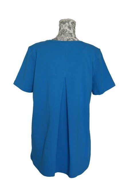 buy womens cotton pleat back cotton tee turq